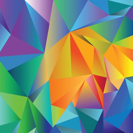 ray tracing: colorful illustration with crystal background for design