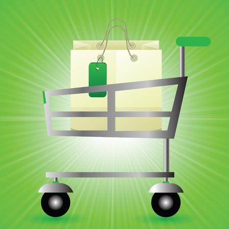 a7287cff15  27953024 - Colorida ilustración con tienda canasta sobre un fondo de la  onda verde para su diseño. Vector