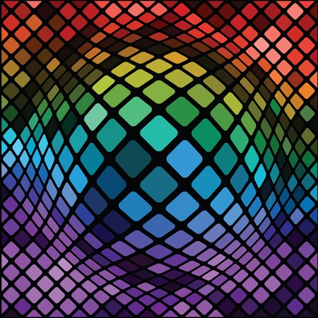polychromatic: colorful illustration with  mosaic background  for your design