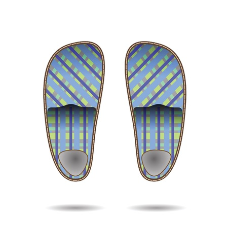 outsole: colorful illustration with  room clippers for your design