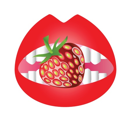 colorful illustration with strawberry for your design illustration
