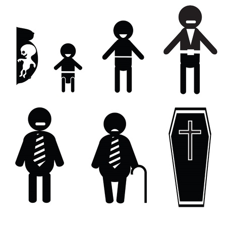illustration with icons of human life for your design illustration