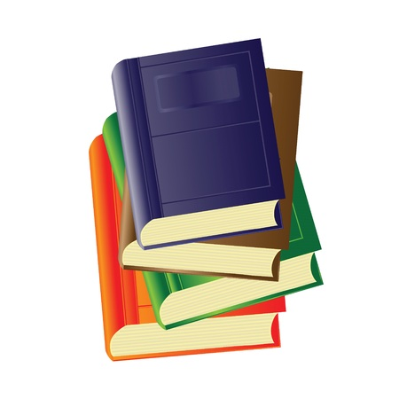 colorful illustration with books for your design illustration