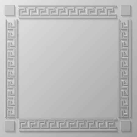 illustration with  greek frame  for your design illustration