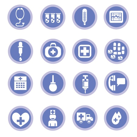 colorful illustration with medical icons  for your design illustration