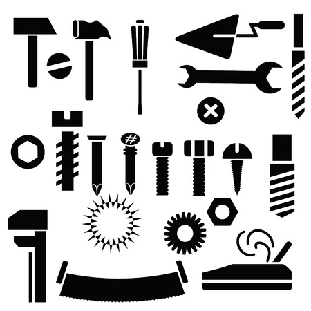 ollection:  illustration with hand tools for your design Stock Photo