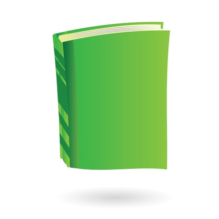colorful illustration with  green book  for your design