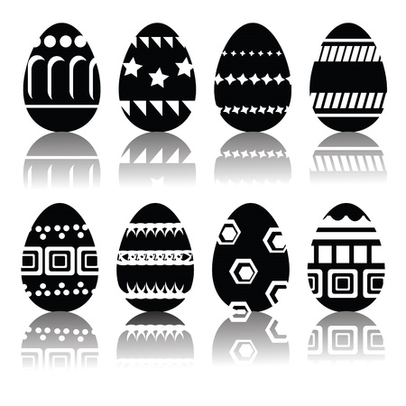 illustration with silhouettes of easter eggs  for your design illustration
