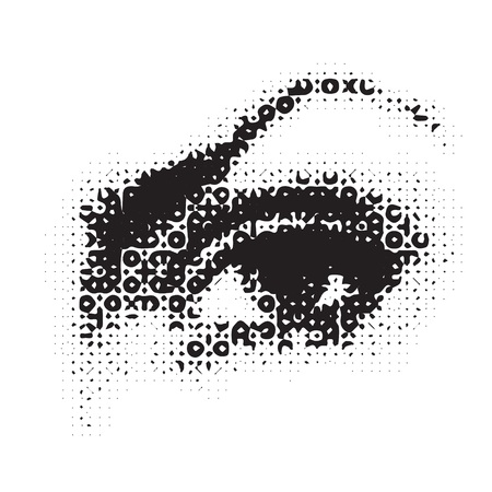 illustration with female eye for your design illustration