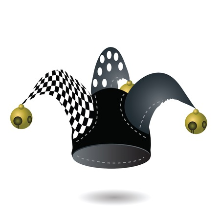jester hat: colorful illustration with jester hat for your design
