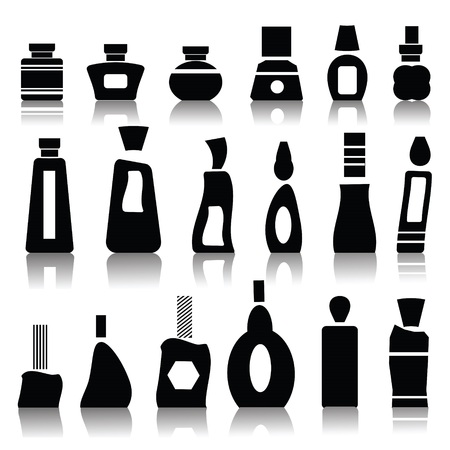 illustration with cosmetic bottles for your design illustration