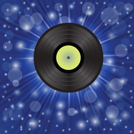 colorful illustration with star music backgroundl for your design illustration