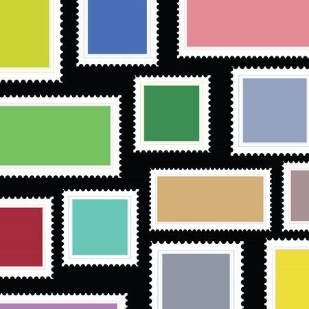 colorful illustration with stamps background for your design