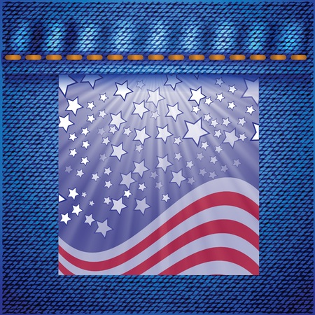 colorful illustration with american flag for your design illustration