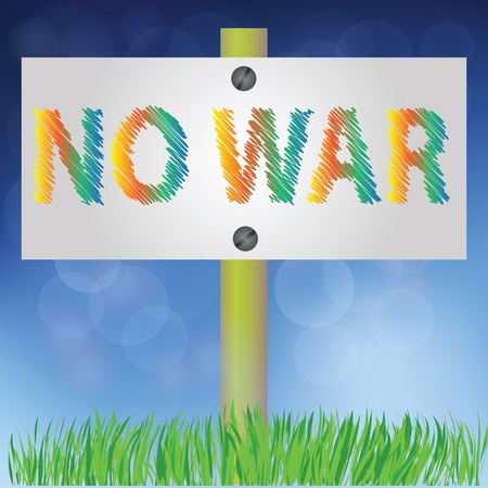 no war: colorful illustration with no war sign for your design