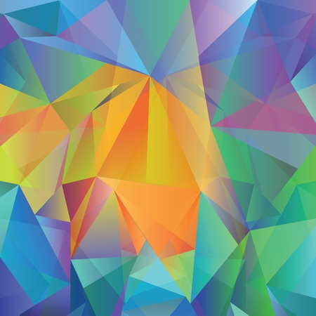 ray tracing: colorful illustration with abstract background for your design Stock Photo