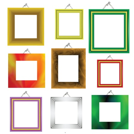 colorful illustration with  frames on a white background for your design