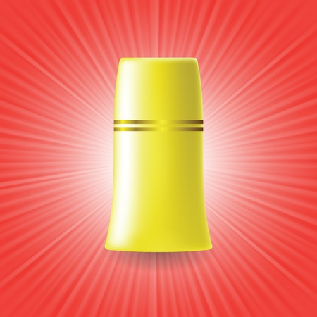 colorful illustration with yellow tube on a red wave background for your design illustration