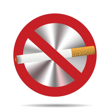 colorful illustration with  no smoking sign on a white background for your design Stock Illustration - 28684213