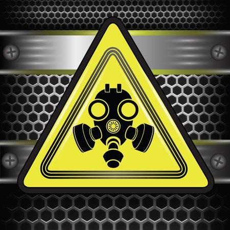 army gas mask: colorida ilustraci�n con el signo de la m�scara de gas para su dise�o Vectores