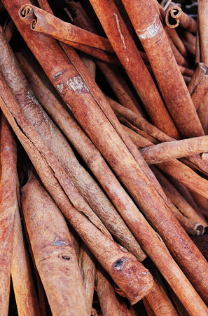 cannelle: Close up of old cinnamon sticks Stock Photo