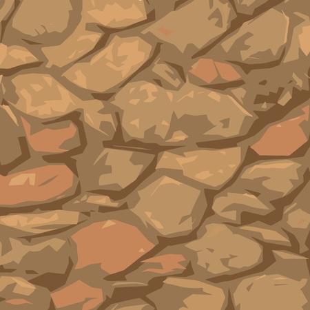 돌 질감과 다채로운 그림 일러스트