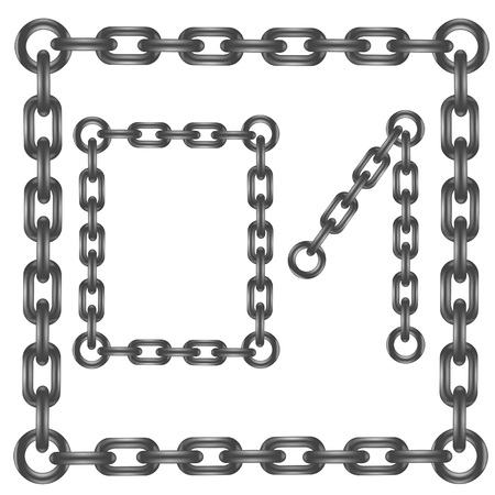 chained link: colorful illustration with steel chain numbers on a white background  for your design