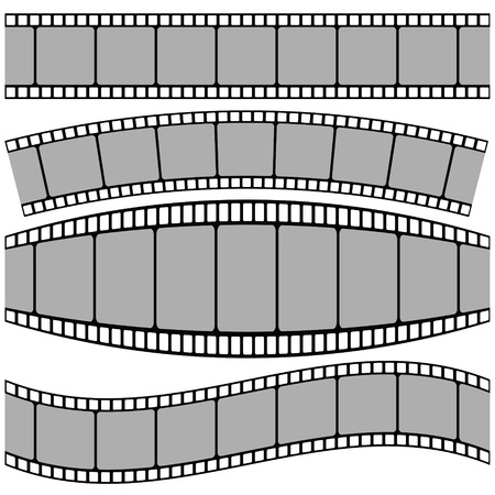 photographic film: colorful illustration with set of Film strip on a white background