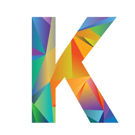 massive: illustration with letter of different colors on a white background