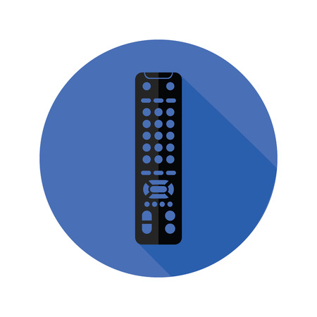 tv remote: illustration with TV remote control icon on a white background