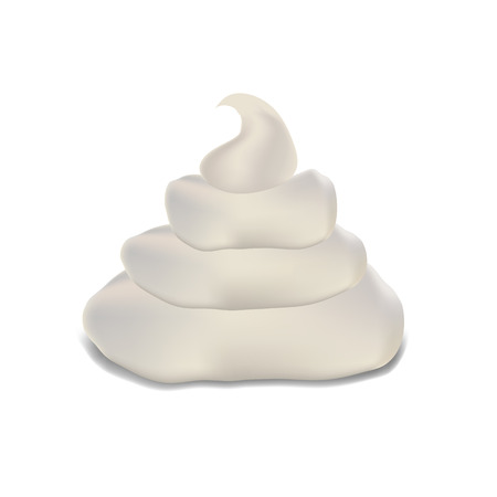 illustration with  cream on a white background for your design