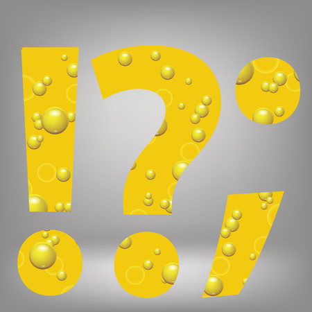 colorful illustration with beer question mark on a grey background Vector