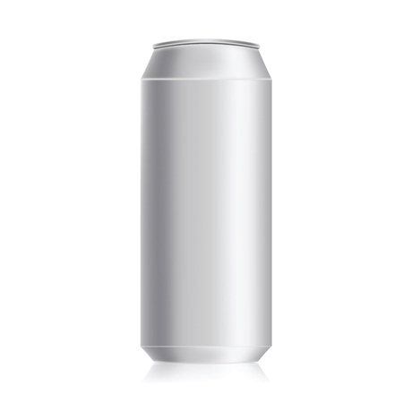 illustration with drink can on a white background illustration