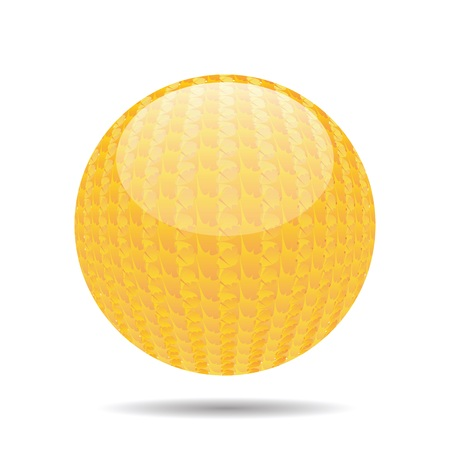 shinny: colorful illustration with orange sphere on a white background Stock Photo