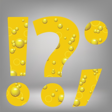 colorful illustration with beer question mark on a grey background illustration