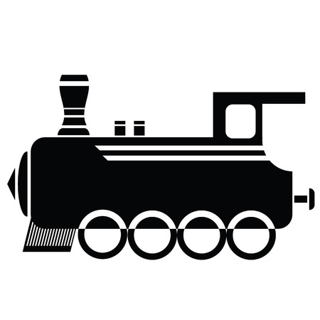 loco: illustration with locomotive icon  on a white background