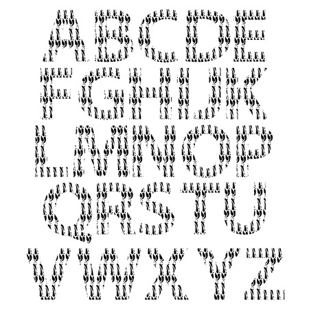 illustration  with alphabet on white background Vector