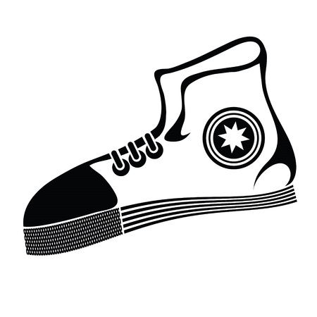 illustration with running shoe on a white  background for your design illustration