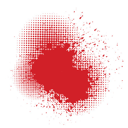 blutspritzer: Abbildung mit Blut Splatter auf wei�em Hintergrund Illustration