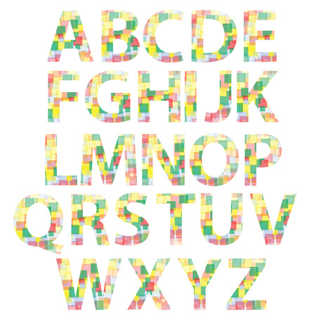 illustration  with colored alphabet on white background Vector