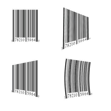 medical distribution: colorful illustration  with bar code set on white background
