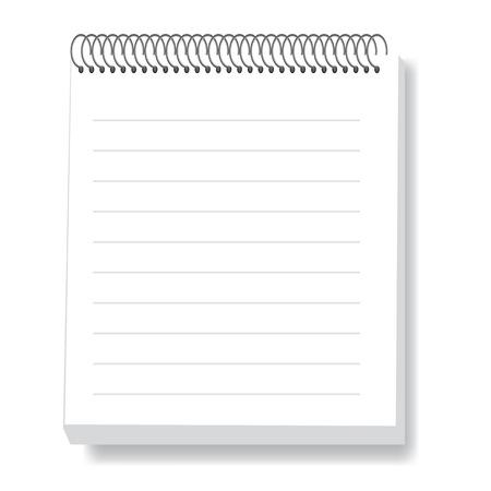 白い背景の上のノートの図