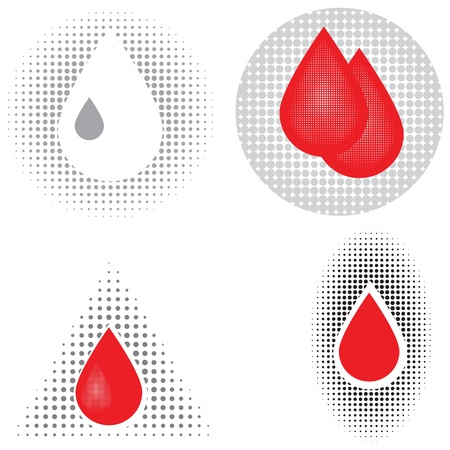 bloodcell: colorful illustration  with blood icons on white background Stock Photo