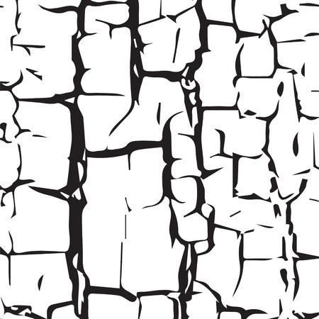 erosion: illustration  with  cracked  texture on white background