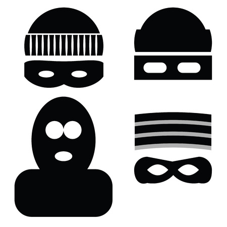 illustration  with thief icons on white background Vector