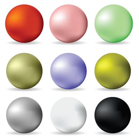 illustration  with  colorful balls on white background