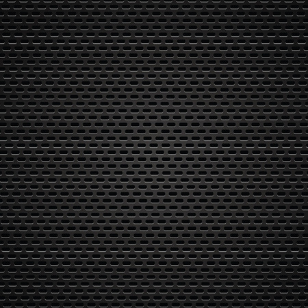 illustration  with  abstract  perforated texture on dark background Vector