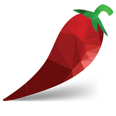 red pepper: colorful illustration  with red pepper on white  background