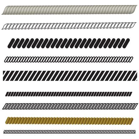 spun: illustration  with rope set on white background