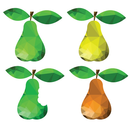 colorful illustration  with abstract pears on white background